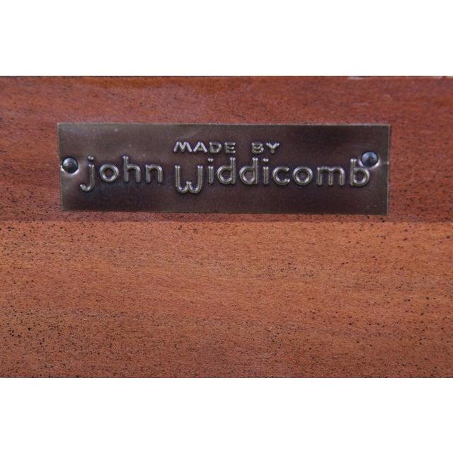 Wood John Widdicomb Mid-Century Modern Sculpted Cherry Wood King Size Headboard For Sale - Image 7 of 8