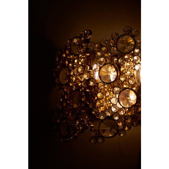 One of Four Palwa Gilded Brass Wall Lamps, Model S103w For Sale - Image 6 of 9