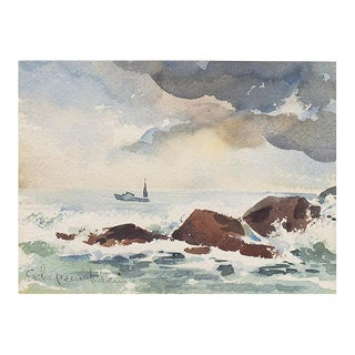 1950s Seascape by Helen Schepens-Kraus For Sale