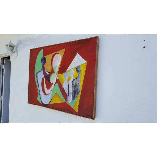1977 Intermezzo Abstract Painting By Chester T. Kuziora - Image 4 of 11