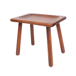 Wooden Low Farm Stool