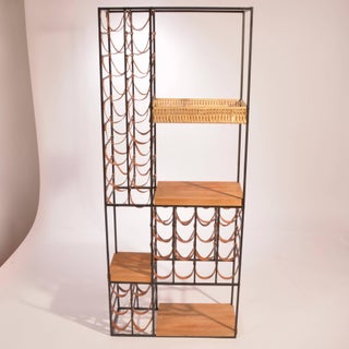 Arthur Umanoff Leather and Iron Wine Rack Preview