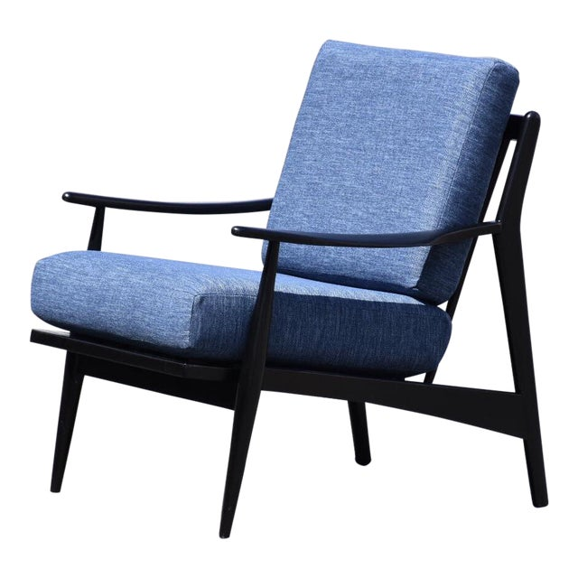 Black Lacquered MCM Lounge Chair For Sale