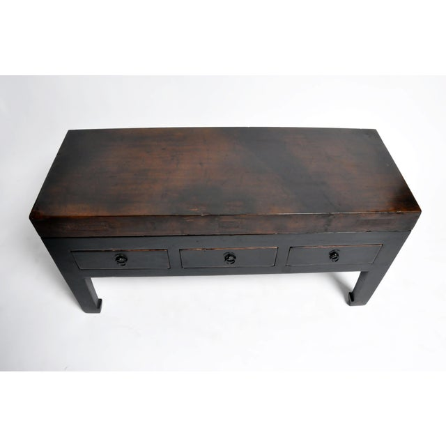2010s Low Chinese Table With Three Drawers and Terracotta Top For Sale - Image 5 of 13