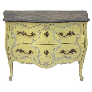 1930s French Painted Bombe Commode For Sale