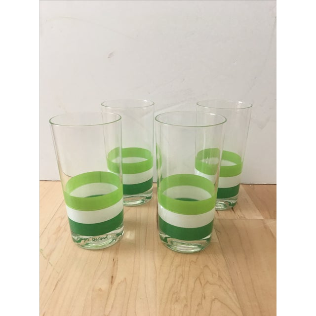 Georges Briard Green & White Tumblers - Set of 4 - Image 2 of 5