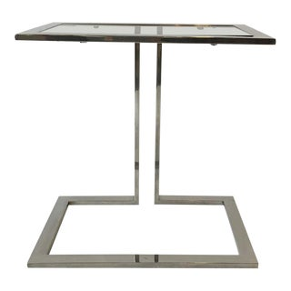 1970s Chrome Side Table For Sale