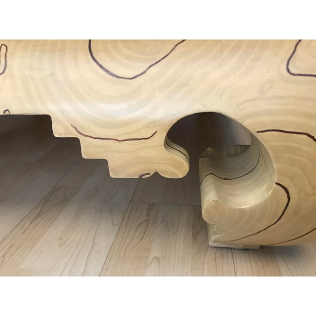 Faux Wood Grain Painted Coffee Table For Sale - Image 12 of 13