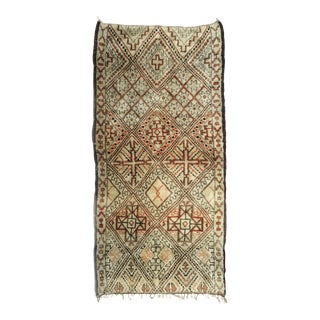 Vintage Moroccan Beni Ourain Rug - 6′2″ × 11′2″ For Sale