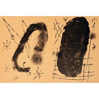 Joan Miro, Derriere Le Miroir, No. 151-152, Pg. 18 & 19 Double Page, Lithograph For Sale
