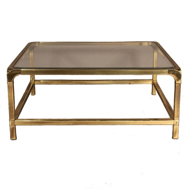 Mastercraft Brass and Glass Coffee Table - Image 1 of 10