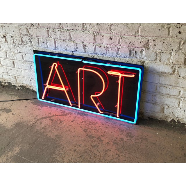 "Vintage Custom Neon ""Art"" Sign For Sale - Image 4 of 8"
