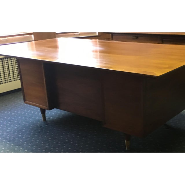 Mid Century Executive Desk by the Standard Furniture Co. - Image 5 of 10