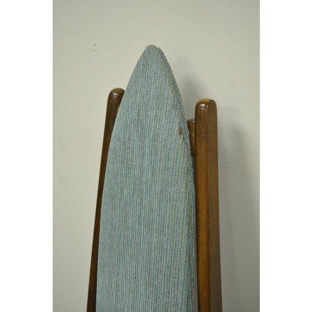 Mid 20th Century Set of 4 Vintage Mid Century Modern Sculptural Walnut Dining Chairs Danish Style For Sale - Image 5 of 11