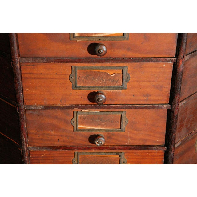 Early 20th Century General Store Revolving Cabinet For Sale - Image 5 of 6
