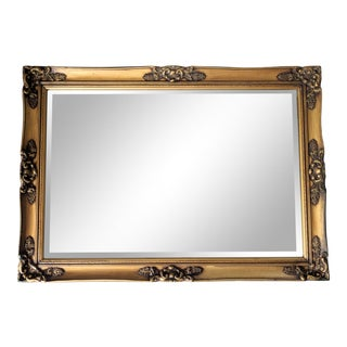 20th Century Hollywood Regency Gold Wood Frame Mirror For Sale
