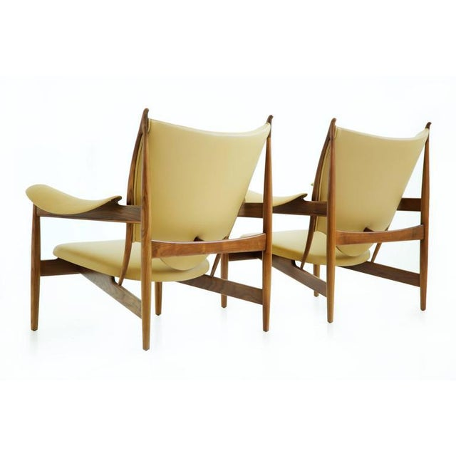 Baker Furniture Company Pair of Finn Juhl Chieftain Lounge Chairs For Sale - Image 4 of 10