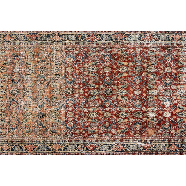 """Vintage Persian Distressed Rug, 4'3"""" X 19'7"""" For Sale - Image 4 of 12"""