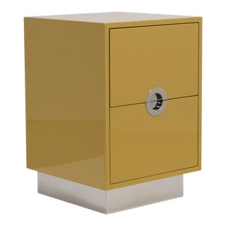 The Lacquered Porthole Bedside Cabinet by Talisman Bespoke For Sale