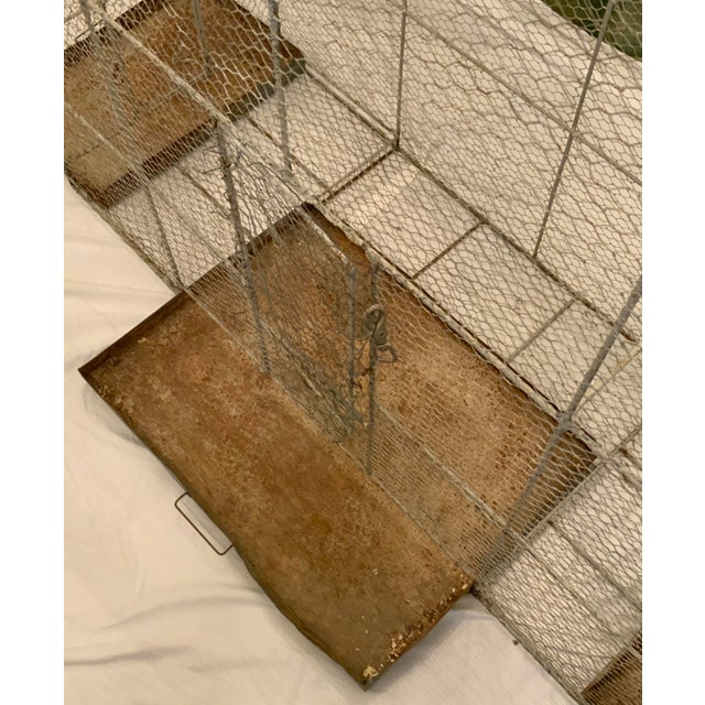 Vintage 1950s French Style Metal Birdcage For Sale - Image 9 of 13