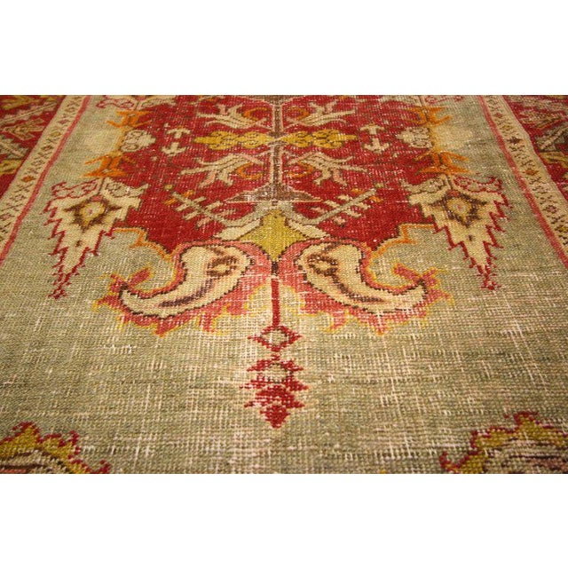 Contemporary 20th Century Turkish Style Distressed Oushak Rug For Sale - Image 3 of 6
