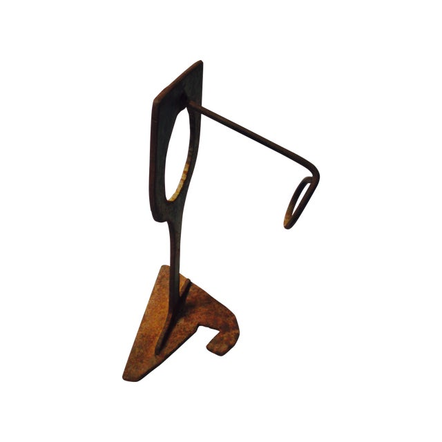 Mid-Century Modern Abstract Sculptural Wood Wine Holder - Image 1 of 11