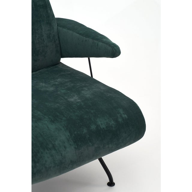 Metal Italian Pair of Armchairs by Carlo DI Carli For Sale - Image 7 of 11