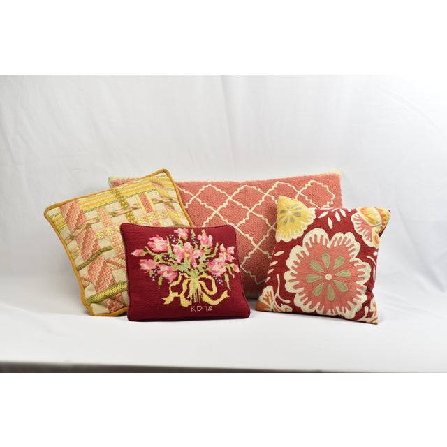 Pink & Ivory Pottery Barn Throw Pillow Cover For Sale In Los Angeles - Image 6 of 7