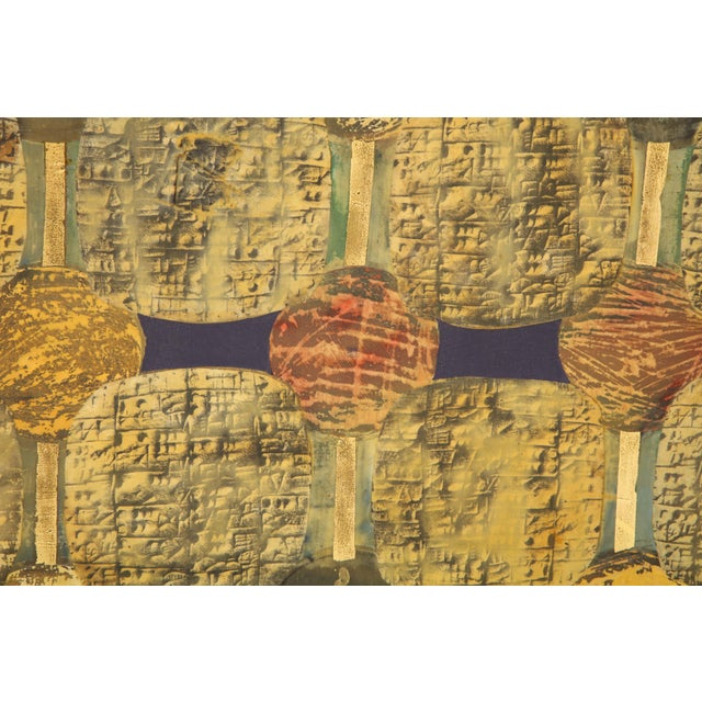 """Wood Simrel Achenbach """"You Are"""" Gouache Painting on Wood, Circa 1993 For Sale - Image 7 of 10"""