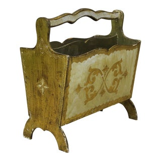 Vintage Florentine Magazine Rack For Sale