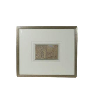 "Original Watercolor ""Arched Doorway - Lucerne"" For Sale"