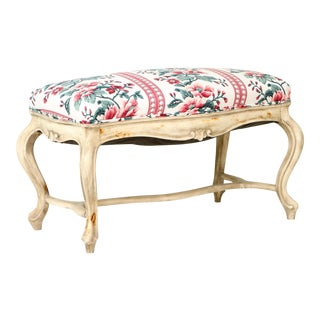 Mid 19th Century Antique French Louis XV Style Bench For Sale