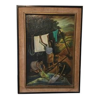 Edmundo Hernandez Oil on Canvas, Framed, 1930s