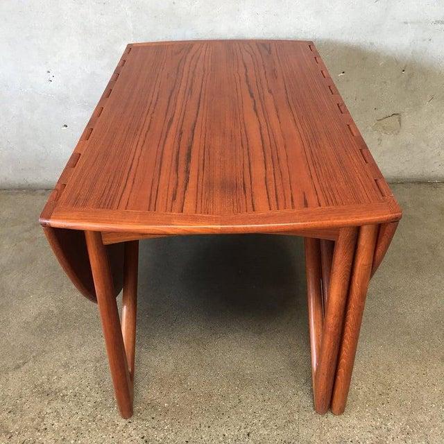 """Wood Vintage Danish Teak """"Gateleg"""" Drop Leaf Dining Table by Kurt Østervig for Jason Møbler For Sale - Image 7 of 10"""