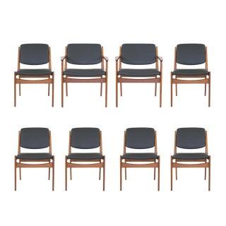 Mid-Century Modern Arne Vodder Vamor Sonderborg Teak Dining Chairs - Set of 8