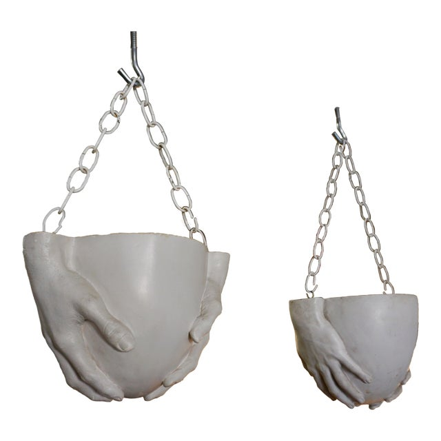 "1970s Vintage Richard Etts Hanging ""Hands"" Planters - a Pair For Sale - Image 9 of 9"