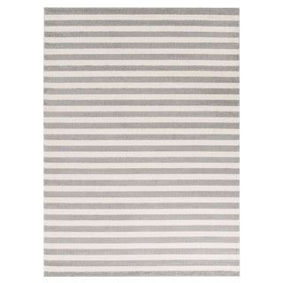 Classic Stripe Chic Durable Rug 9'3 X 12'6 For Sale