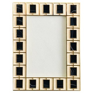 Shagreen With Black Jade Gold-Plated Photo Frame by Fabio Ltd For Sale