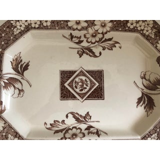 English Aesthetic Movement Transferware Sepia Color Platter by Avon, C.1884 Preview