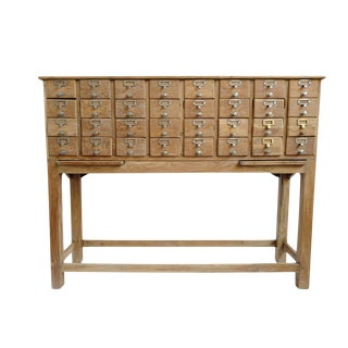 Vintage Teak Multi Drawer Cabinet For Sale