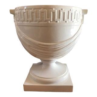 Vintage Ceramic Grecian Urn Planter For Sale