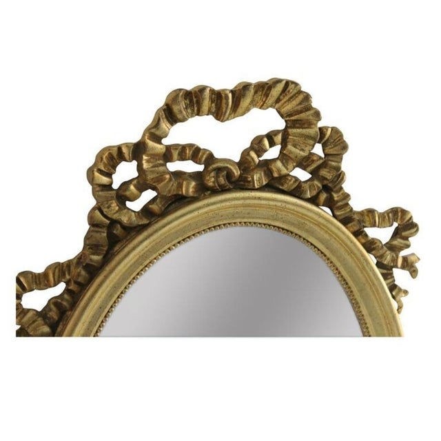 Gilded Ribbon Beveled Mirror - Image 2 of 2