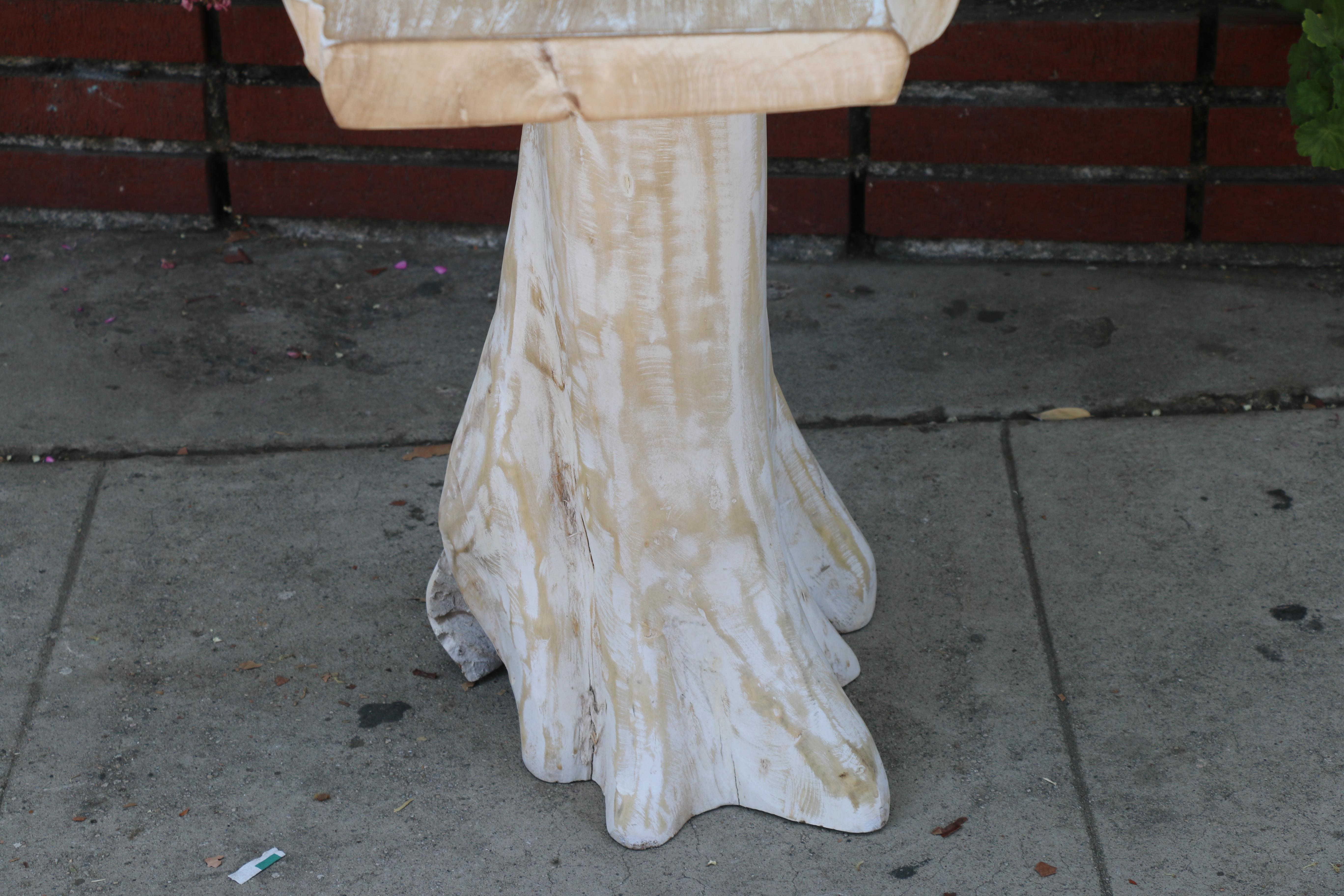 Slab Wood Rustic Console Table For Sale   Image 9 Of 10