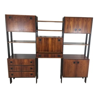 1960s Mid-Century Modern Rosewood Bookcase For Sale