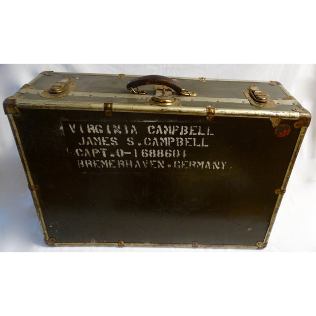 Vintage World War II Soldier's Trunk - Image 3 of 4