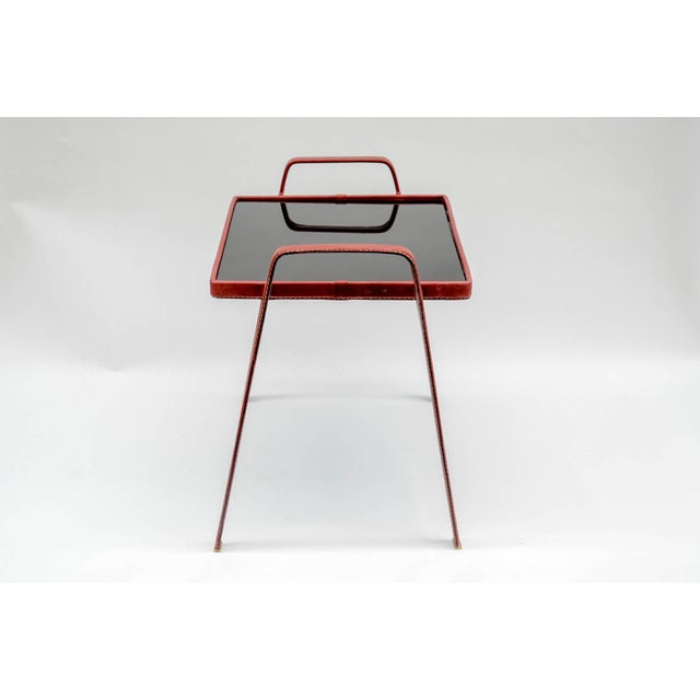 1950s Pair of Side Tables by Jacques Adnet For Sale - Image 5 of 7