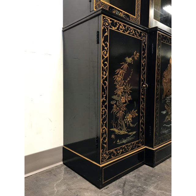 DREXEL HERITAGE Et Cetera Asian Chinoiserie Breakfront China Cabinet For Sale In Charlotte - Image 6 of 11