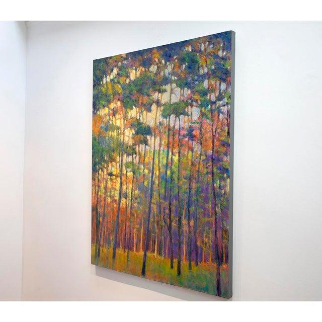 Canvas Ken Elliott, Glittering Forest, 2017 For Sale - Image 7 of 9