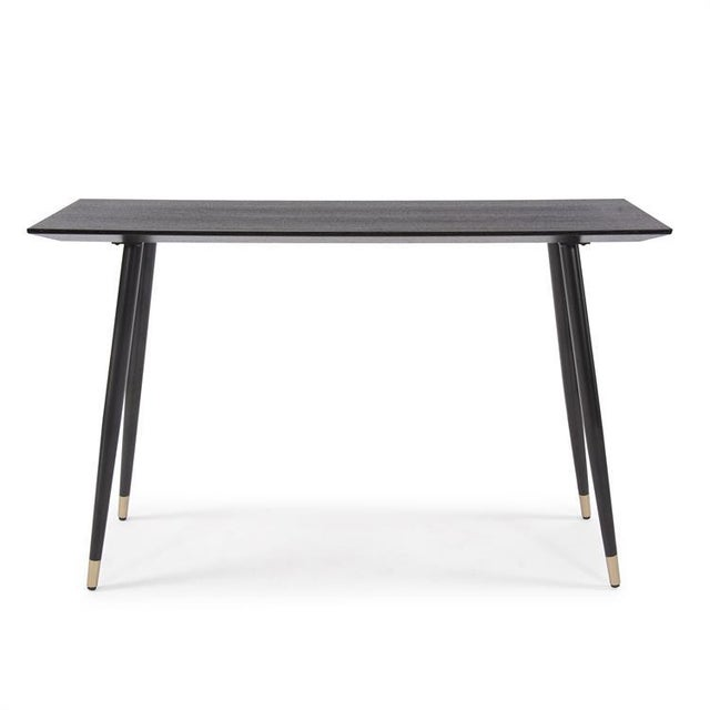 Black Kenneth Ludwig Chicago Soho Wood Console Table For Sale - Image 8 of 8
