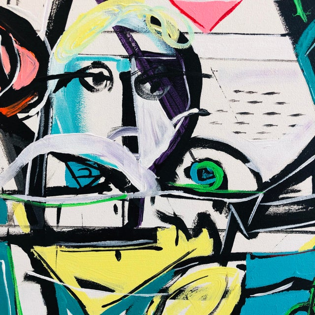 Jj Justice Contemporary Abstract Portrait Painting For Sale - Image 4 of 10